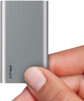 PNY 240GB Portable SSD Elite Silver USB 3.1 Compatible with Windows, and Mac OS