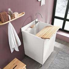Mobile lavatoio con asse in LEGNO 45x50 dx per lavanderia Geromin Prima
