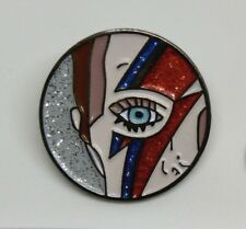 David Bowie Colourful Design Enamel Brooch Pin Badges