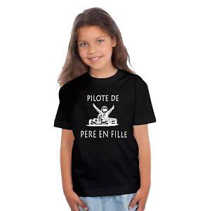 T-shirt ENFANT PILOTE DE PÈRE EN FILLE