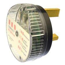 Tester per presa 50mm DIAMETRO 240v PLUG RETE TEST CHECKER ELECTRIC sil325
