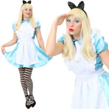 LADIES ALICE COSTUME FAIRYTALE FANCY DRESS BOOK CHARACTER ADULT WOMENS OUTFIT