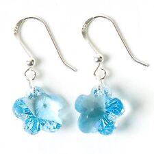 Swarovski Crystal Forget Me Not Earrings - Masonic Ladies Night Gift