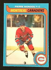 1979-80 OPC O-PEE-CHEE HOCKEY PIERRE MONDOU CARD #211 MONTREAL CANADIENS NMT+