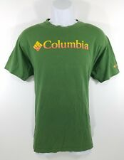 Columbia Men's Green Short Sleeve Hiking Outdoor Fishing T-Shirt Size-Large
