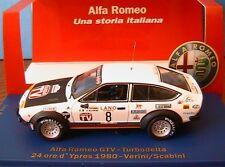 ALFA ROMEO GTV TURBODELTA #8 24 ORE D'YPRES 1980 VERINI SCABINI M4 1/43 1344 PCS