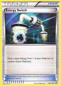 ENERGY SWITCH HOLO 112/113 - LEGENDARY TREASURES POKEMON TRAINER CARD
