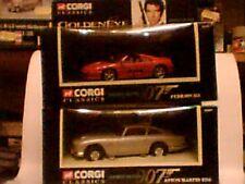CORGI SET OF TWO CARS ASTON MARTIN DB5 & FERRARI 355 FROM GOLDENEYE
