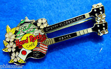 ENAMEL OSAKA JAPANESE CHERRY BLOSSOM IMPERIAL CASTLE GUITAR Hard Rock Cafe PIN