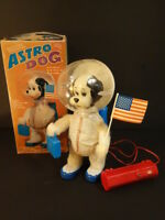 All Original YONEZAWA Astro Dog Snoopy Nasa Batt Op Mint + Box Japan 1969