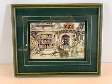 """Vintage """"The Toy Shop"""" by Anton Pieck Framed Diorama Reproduction"""