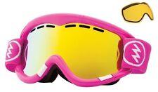 NEW Electric EG1 Punk Pink Gold ski snowboard goggles + extra lens 2014 Msrp$100