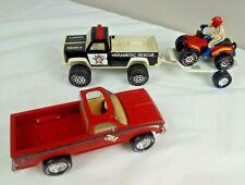Vtg Pressed Steel Pickup Trucks: Nylint 3M,Tonka Paramedic Rescue,Buddy L Quad