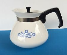 Corning Ware Blue Cornflower 6 Cup Stovetop Teapot With Lid P-104