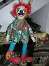 Rare! 1966 Buttons N Bows Dakin San Francisco Quilted Cloth Clown Sitting 25""