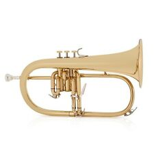 Flugel Horn Gold With Case by Gear4music