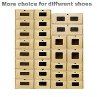 Shoe Box Organiser Drawer Cardboard Foldable Stackable Storage Visible Orgnizer