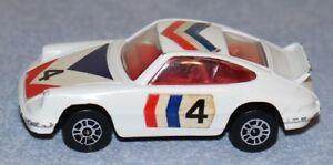 Vintage 1973 Corgi Junior 1:64 White #4 Porsche Carrera Sports Car