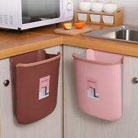 Garbage Hanging Trash Can Folding Waste Bin Storage Bucket Kitchen & Dining
