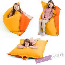 Yellow & Orange Bean Bag Slab Large Children's Kids Beanbag Cushion
