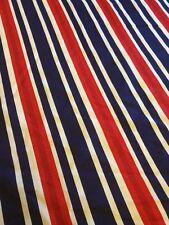Vintage Retro Fabric Stripe Pattern 6 Yards Red White Blue USA America 4th July