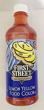 16oz First Street Food Color Lemon Yellow