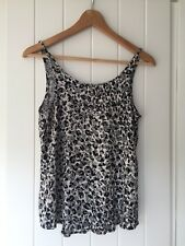 Animal Print Little Lies Top Size 10 Rayon Black And White EUC Summer Top