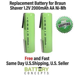2x Batteries for Braun 8595, Series 1, Series 7, Contour, Contour Sportive