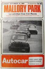 MALLORY PARK Mini-7 Longbridge Cup Car Races 28th Sep 1969 Official Programme