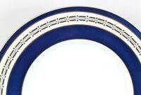 SET 6 VINTAGE MINTON ENGLAND CHINA S293 SALAD PLATES WHITE CREAM BLUE PLATINUM