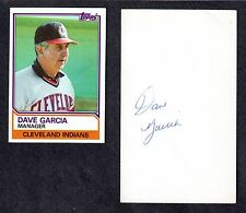 Dave Garcia ( Debut 1977 ) LAA CLE SD MIL SIGNED AUTOGRAPH AUTO 3x5 INDEX COA