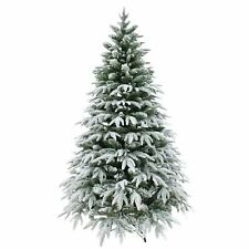 7ft Artificial Snow Covered Christmas Tree Metal Stand Xmas Decorations Decor