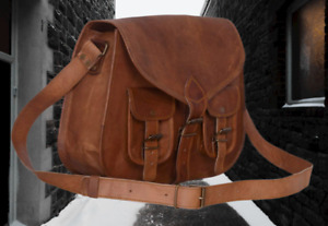 Women Real Genuine Leather Vintage Messenger ladies Shoulder Hippie Tote Bag New