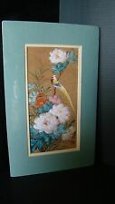 Signed Matted Original Chinese Watercolor On Cork