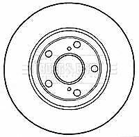 BORG BBD4745 BRAKE DISC Front