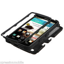 For LG G3 Hybrid ShockProof TUFF Rugged Rubber Protective Hard Case Cover BLACK