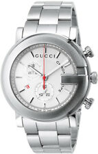 New Gucci G-Chrono Chronograph White Dial Stainless Steel YA101339 Mens Watch