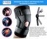 Hinged Knee Brace Adjustable Open Patella Support Swollen Tendon Ligament ACL
