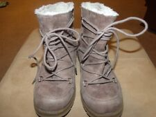 Mad Love Women's Taupe Faux Shearling Lined Winter Ankle Boot - Size 7 EUC