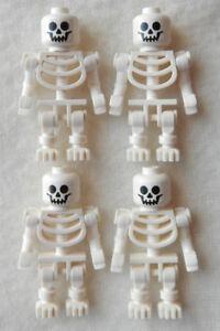 4 NEW LEGO SKELETON LOT halloween minifig minifigure figure pirates castle toy