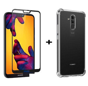 Coque Renforcé Silicone Huawei P20 P30 Lite Pro / Honor / Mate + Verre trempé 3D