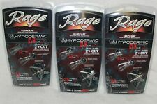 "3 Packs Rage Hypodermic Compound Nc 100 Gr 2"" + Cut Broadheads R38100"