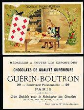 Chromo Guérin-Boutron - Jeu de Cartes - Neuf de Carreau
