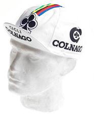 Rennrad Cap COLNAGO Vintage Cap Fixie Singlespeed Colnago Mütze weiß Retro Cap