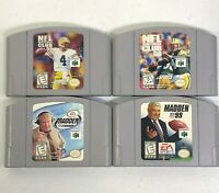 N64 Video Game Football Sports Lot Madden 99, 2K, NFL Club 98, 99