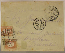 POSTA MILITARE DIVISIONE SPECIALE B 14.8.1915 BUSTA CON SEGNATASSE #XP244G