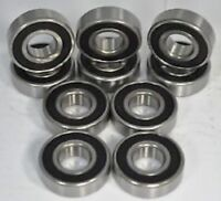 10 Qty 6201-2RS two side rubber seals ball bearing 12*32*10