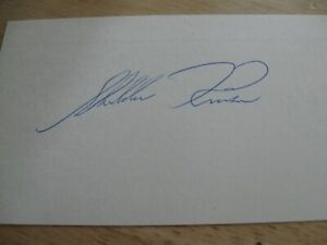 Sheldon Kinser 6 Time Indy Starter Signed 3x5 Card