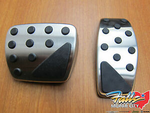 2015-2020 Jeep Compass Renegade Stainless Steel Pedal Kit New Mopar OEM