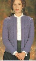"Ladies edge to edge Jacket Knitting Pattern DK 32-42"" 1035"